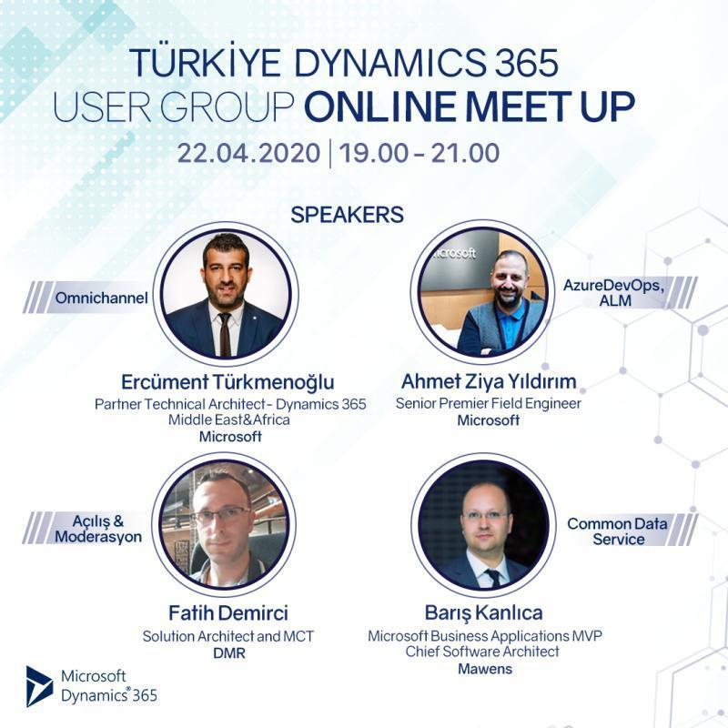 Türkiye Dynamics 365 User Group Online Etkinliği